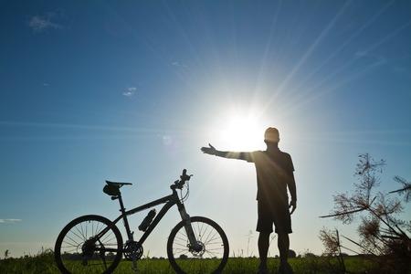 succeed: Cyclists,feeling Succeed