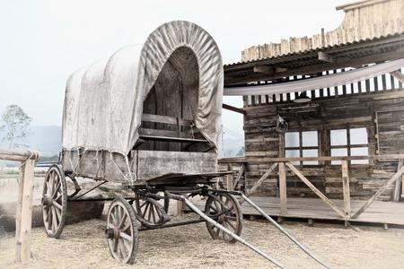 Wild West cart 스톡 콘텐츠