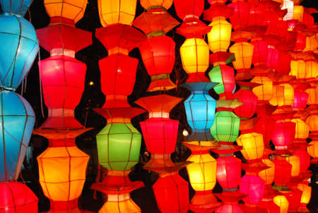 Amazing Paper Lamps of Loi Krathong Festival in Chiang Mai Thailand Stock Photo - 8478418