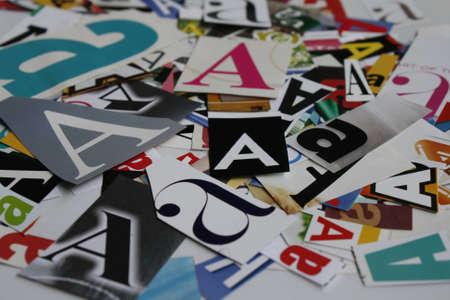 Text  A-Z Background Paper Front Design ABC Color photo