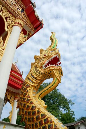 Naka or Big Snake in front of Thailand Temple, Phuket photo