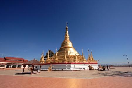 Golden Shwedagon Pagoda, Yangon, Myanmar Stock Photo