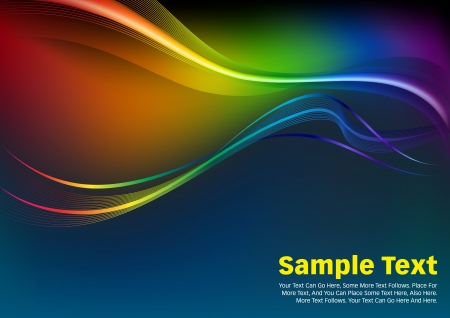 Abstract background with colorful waves  Colorful Waves and Lines Vector Background  photo