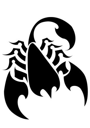 skorpion: Scorpion Tattoo auf einem isolierten Hintergrund Abstract Vector Illustration von Scorpion Illustration