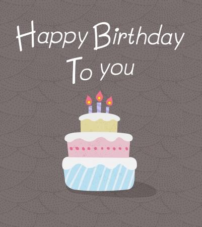 pastel feliz cumplea�os: Torta de cumplea�os con velas de la torta del feliz cumplea�os con la vela Ilustraci�n vectorial de la torta del feliz cumplea�os
