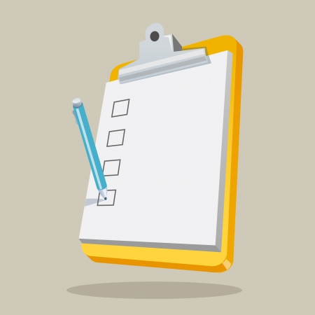 bad service: Illustration of clipboard with checklist  Concept vector graphic for Creative