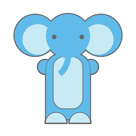 Cute cartoon elephant  Elephant toy vector illustration  Isolated on White background  Elephant Doll  Puppet Elephant  Illustration of Cartoon Elephant  Vector
