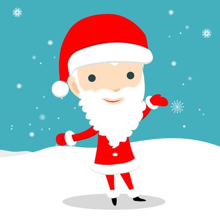white bacjground: Young Santa Claus