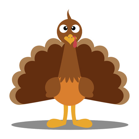Cute cartoon Thanksgiving turkey  A vector illustration of a turkey  Thanksgiving turkey  Illustration of a turkey on white background  Turkey Escape Cartoon Mascot Character