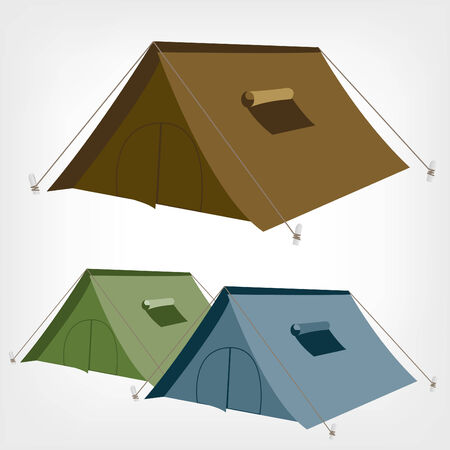 Camping tent vector  Tourist tent for travel and camping  Illustration of an isolated tent  Vector