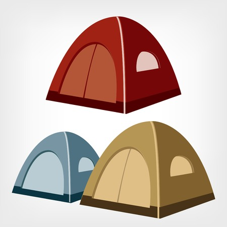 tent vector: Camping tent vector  Tourist tent for travel and camping  Illustration of an isolated tent
