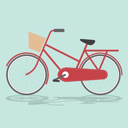 bicicleta retro: Vintage Retro Antecedentes de bicicletas Ilustraci�n Retro Bicicleta Ilustraci�n de la tarjeta de la bicicleta con la bicicleta Vector Ilustraci�n simple de la bicicleta