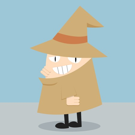 Detective  Cartoon illustration of a detective  Detective on Light Blue Background  All in a single layer  Vector illustration  Vector