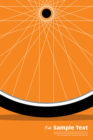bicycle wheel: Bike Poster Wheel  vintage poster  bicycle banner poster tour  EPS 10 vector illustration for poster design  All in a single layer  Illustration