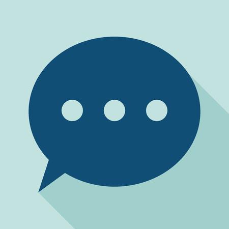 converse: Bubble-Icon Sprechblasen-Symbol auf hellblauem Hintergrund Vektor-Illustration alle in einer einzigen Schicht EPS 10 Vektor-Illustration f�r Design