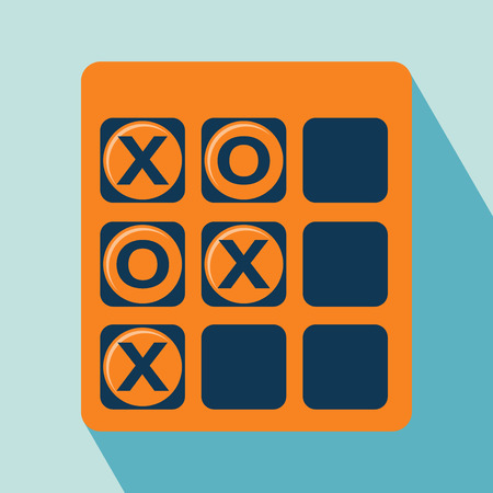 toe: Tic Tac Toe Icon  Game Icon  Illustration