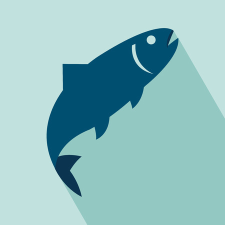 dead fish: Fish Icon illustration for design  All in a single layer