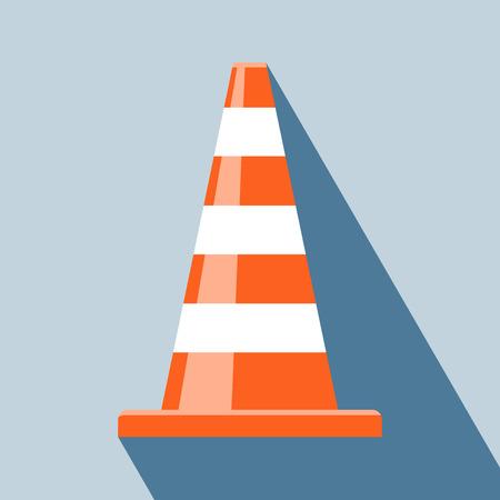traffic signal: Conos de tráfico ilustración Icono de cono de tráfico Vectores