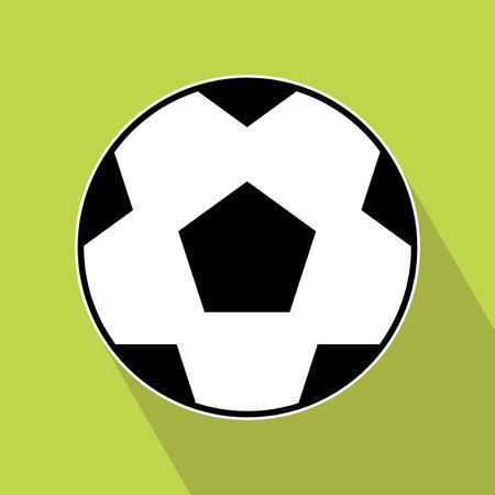 offside: Soccer Icon  Vector Soccer Icon on green background   vector illustration for design  Elements for design