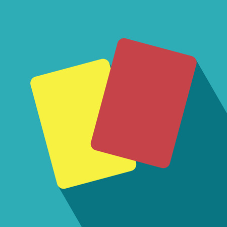 Red and Yellow Card Icon  Yellow card, Red card  Football and abstract signs  Vector Illustration  Vector