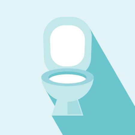 Flush WC Icoon Wc, WC teken, vector Flush WC pictogram op lichtblauwe achtergrond Elementen voor het ontwerp