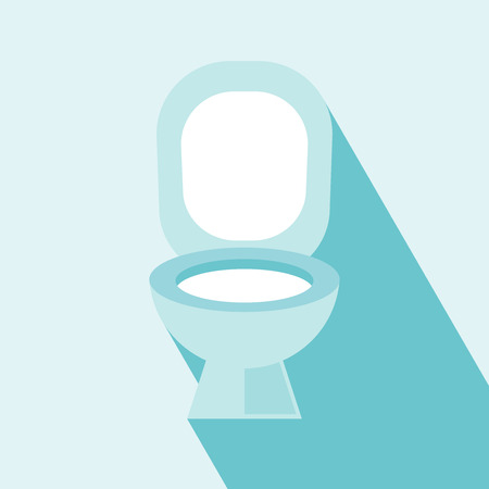 Flush Toilet Icon  Wc ,Toilet sign,vector  Flush Toilet Icon on light blue Background  Elements for design