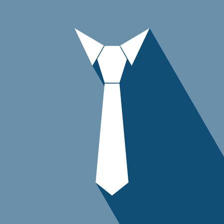 neck tie: Necktie Icon.