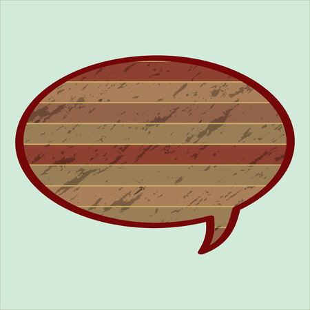 Speech Bubble in Wood Style. Speech Bubble icon vector. Vector wood speech bubble. Vector illustration. Elements for design. Vector