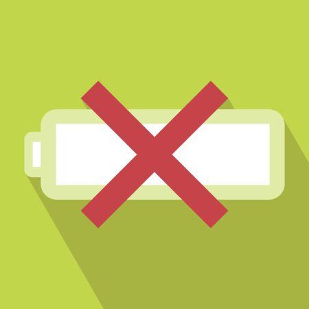problem solved: Problem Battery Icon. Vector illustration. Elements for design. Problem Battery Icon on light green background. Problem Battery Icon with Long Shadow. Battery Problem Solved. Illustration