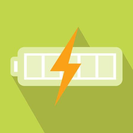 장 전기: Battery Charger Icon. Vector illustration. Elements for design. Battery Charger Icon on light green background. Battery Charger Icon with Long Shadow. Battery Energy Icon. Electronics Battery Icon. 일러스트