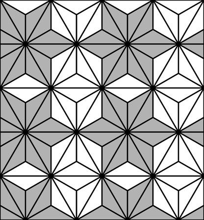 reticle: A Seamless Hexagonal Pattern. Geometric Background. Seamless pattern background triangle, retro vintage design vector. Vector illustration. Illustration