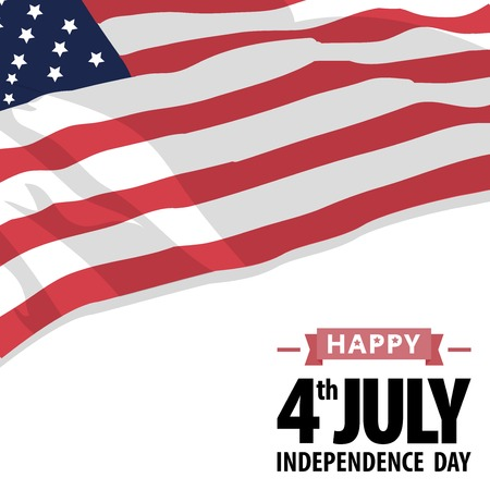 Happy independence day United States of America 4th of July. American Independence Day grunge background. All in a single layer. Vector illustration. Elements for design. EPS 10 vector illustration for design. Ilustracja
