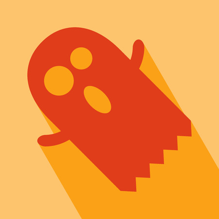 ghost cartoon: Halloween Icon. Ghost Icon. Ghost Icon vector isolated on orange background. Ghost Icon with Long Shadow. All in a single layer. Vector illustration. Elements for design. Illustration