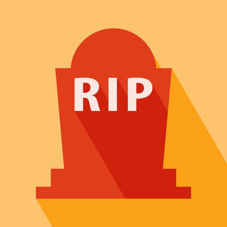 Halloween RIP Grave Icon Vector