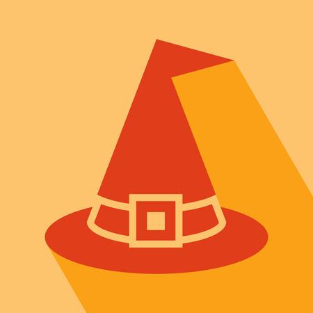 bruja: Icono de Halloween del sombrero de la bruja. Vectores