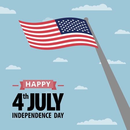 Happy independence day United States of America 4th of July. American Independence Day grunge background. All in a single layer. Vector illustration. Elements for design. vector illustration for design.