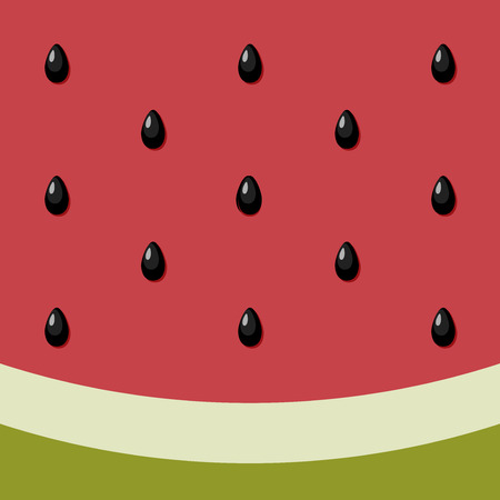 Watermelon Background. Bright watermelon background. Striped green and red. Summer illustration. Vector abstract pattern. Vector food background seed texture. Elements for design.