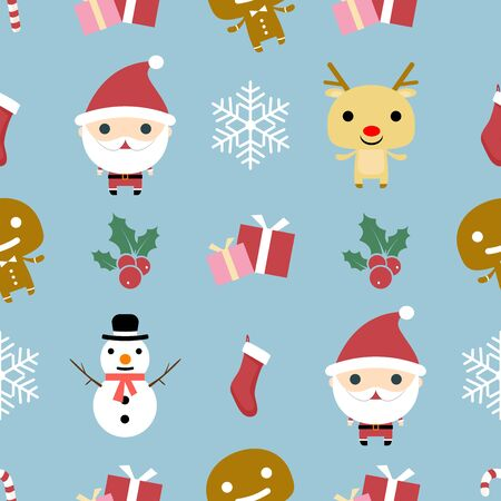 Christmas Pattern. Christmas background, seamless tiling, great choice for wrapping paper pattern. Vector illustration.