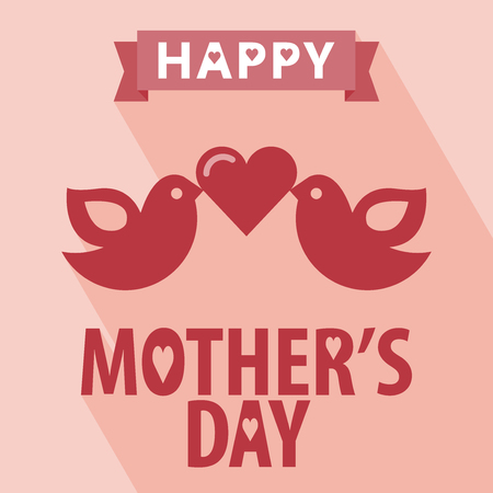 retro type: Happy mothers day card vintage retro type font. Happy mothers day with Long Shadow. All in a single layer.