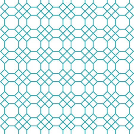 wall decal: Octagons pattern vector. Octagons seamless pattern. Blue octagon shape pattern background. Octagon and square shape vector pattern. Octagons pattern Elements for design.