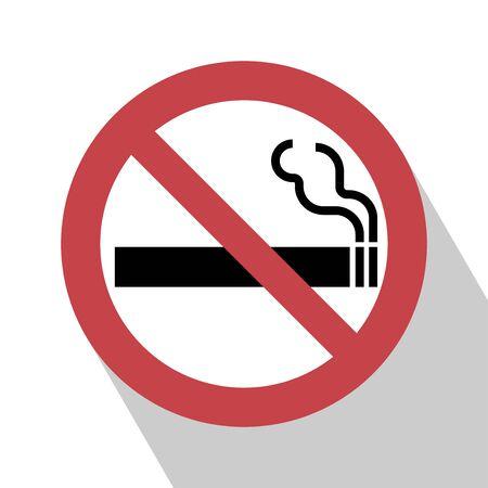 No Smoking Sign. No smoking Sign vector illustration. Not smoking sign vector.  All in a single layer. No smoking Sign Elements for design. No smoking Sign with Long Shadow. Illustration