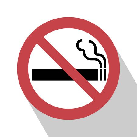 pernicious: No Smoking Sign. No smoking Sign vector illustration. Not smoking sign vector.  All in a single layer. No smoking Sign Elements for design. No smoking Sign with Long Shadow. Illustration