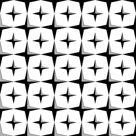Seamless Star Pattern. Seamless pattern with stars. Illustration. All in a single layer. Seamless monochrome star pattern.