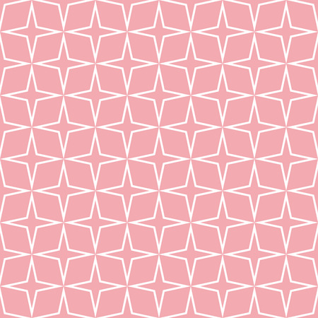 Seamless Star Pattern. Seamless pattern with stars. Illustration. All in a single layer. Seamless pink star pattern.