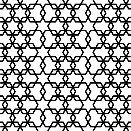 reticulation: Hexagon seamless pattern.