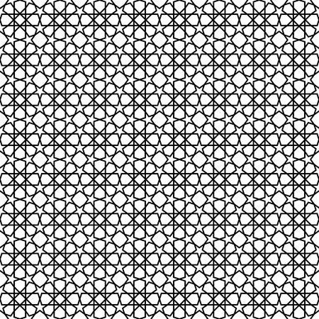 블랙 스타 모양 패턴 배경입니다. 원활한 스타 벡터 패턴입니다. 디자인 요소입니다.