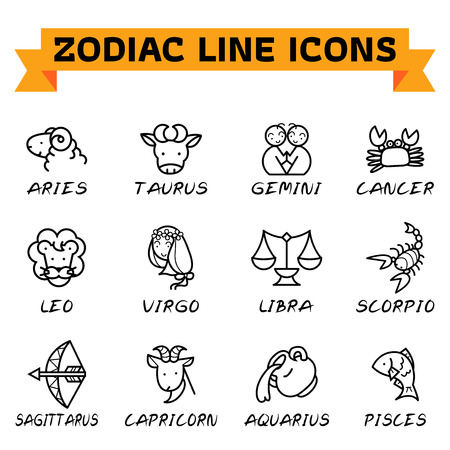 Zodiac signs icon Illustration