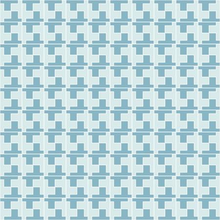 Geometric Pattern Seamless. Seamless blue geometric pattern. All in a single layer. Vector illustration.