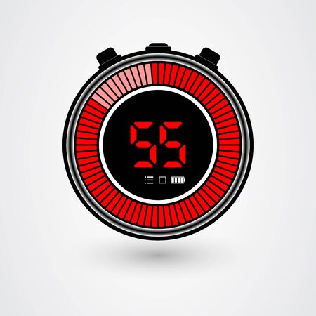 Gauge Icon. Gauge Icon vector isolated on White background. Vector icon speedometer. All in a single layer. Vector illustration. Elements for design.