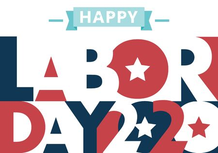 Happy Labor Day. text signs. Vector illustration for design. All in a single layer. Vector illustration. Happy Labor Day 2020. 向量圖像
